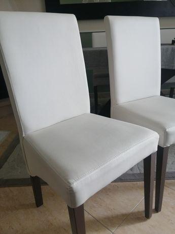 Cadeiras pele branco