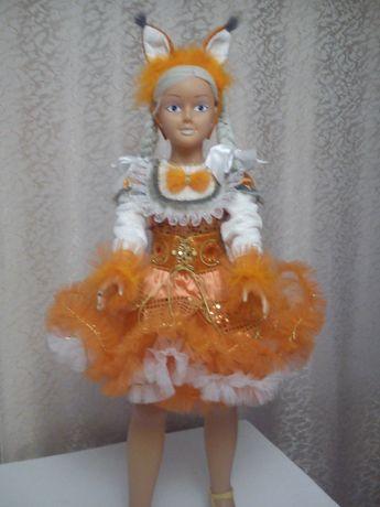 Карнавальный костюм белочки,снегурочки, принцессы и ёлочки