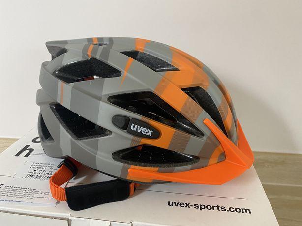 Kask rowerowy uvex air wing cc grey-orange md