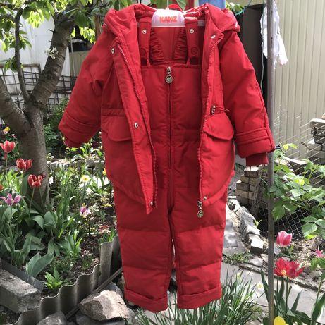 Зимний комбинезон(куртка+полукомбинезон) для девочки 3-4 года