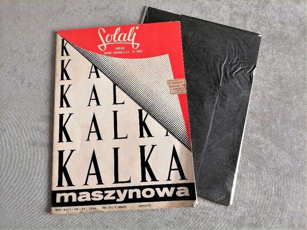 Kalka maszynowa czarna - Solali Żywiec - PRL