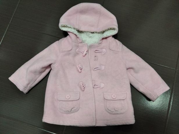 Kurtka płaszczyk polar kożuszek ocieplany dla dziewczynki Next 74/80