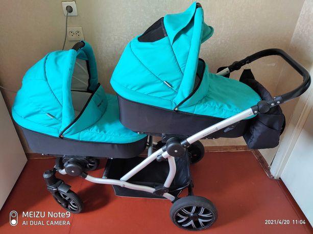 Детская коляска BEBETTO 2 в 1 для двойни