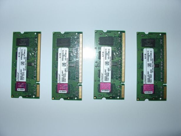 Memórias RAM Kingston 1GB DDR2 800 MHz SDRAM SO-DIMM 200 pinos