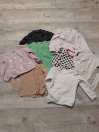 Śliczne bluzy i sweterki 110-116cm.