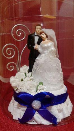 Pamiątki - ślub, wesele, kotyliony, zapinki, ozdoby na tort, kieliszki