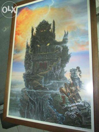"Quadro ""dark citadel"" do pintor edward p. beard jr"