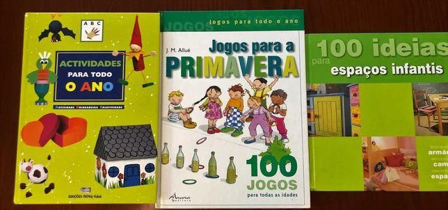 Jogos e atividades infantis e crianças (conjunto de 3 livros)
