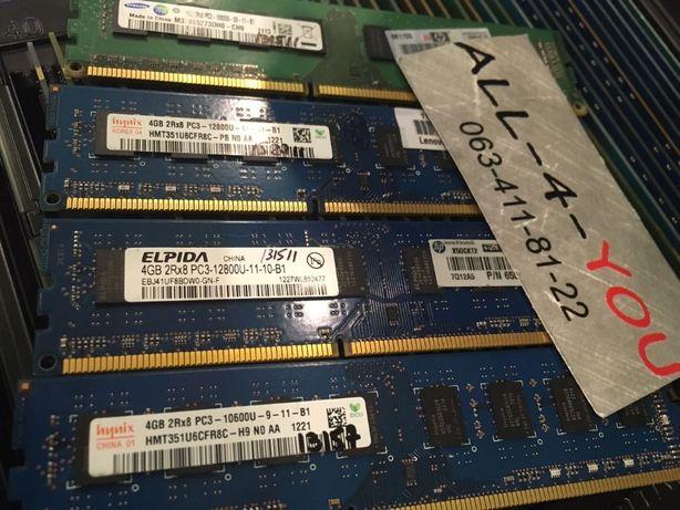 DDR3 4GB Hynix, Micron, Samsung SDRAM 1600/1333 MHz Intel/AMD