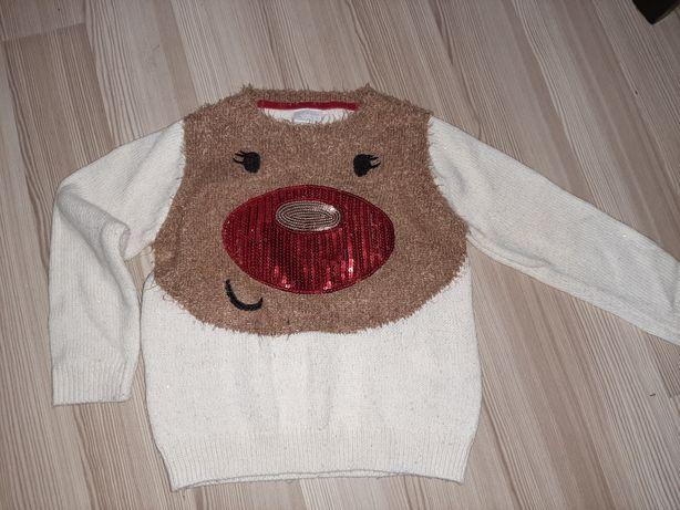 Sweterek świąteczny cekiny 110 spr wymiary