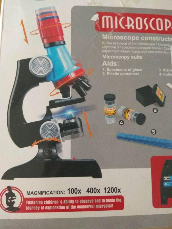 Mikroskop dla dzieci, powiększenie 1200x 400x 100x Chorzów - image 1
