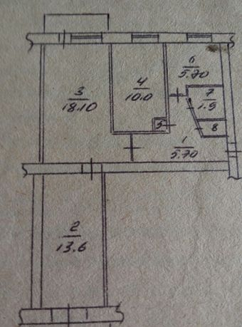 квартира в городе Очаков Николаевской обл трехкомнатная на 4 этаже,