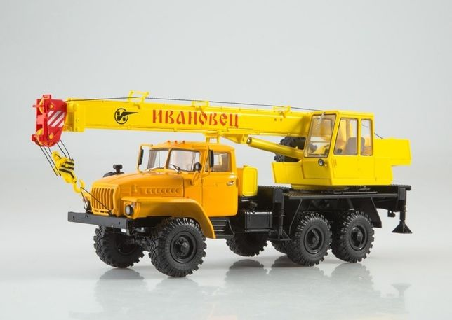 Модель 1/43 Грузовик Урал-4320 автокран КС-3574 Фирма Автоистория