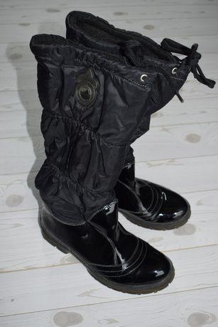 TOMMY HILFIGER r. 37 Kozaki kalosze Mount Baker pikowane buty logowane