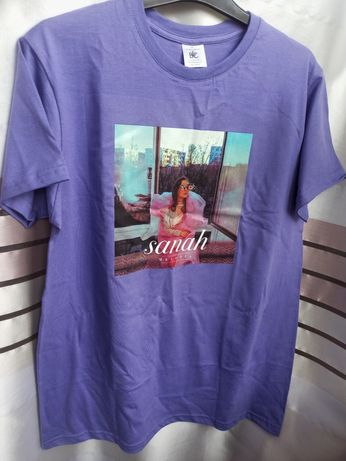 Koszulka Sanah nowa fioletowa melodia