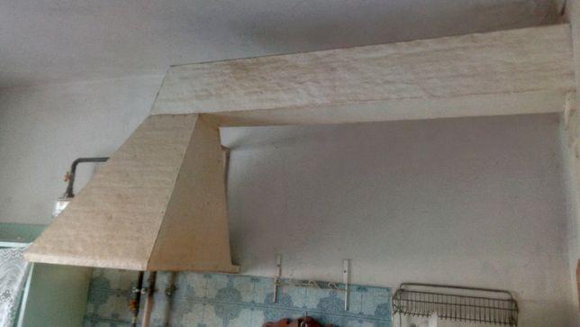 Вытяжка кухонная из жести с деревянным каркасом