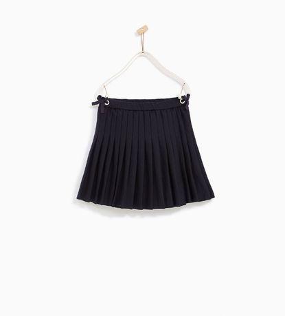 Zara Испания юбка школьная плиссированная в отлич. сост. в р-ре 5-6 л