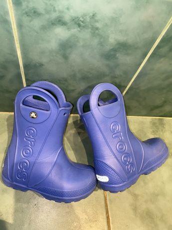 Crocs сапоги сапожки резиновые детские летние кроксы С9 25,26,27