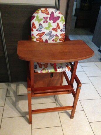 Drewniane krzesełko do karmienia 2 w 1 Duże!