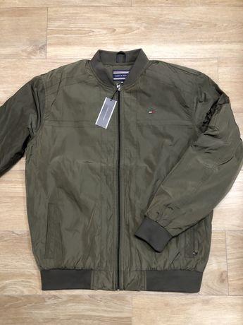 Tommy Hilfiger XXXL 3XL khaki bomberka jesienna przejsciowa