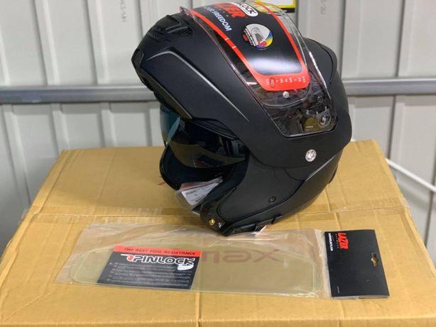 kask motocyklowy modułowy LAZER LUGANO Z-LINE CZARNY MAT s m xl nowy