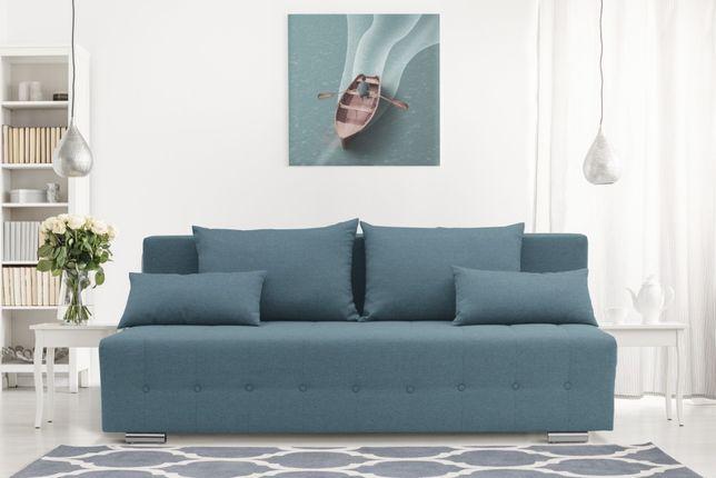 Sofa rozkładana, kanapa RIO pojemnik na pościel sofa trzyosobowa PROMO