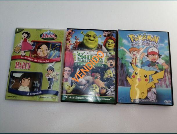 Lote 2 DVD - Pokémon e Heidi