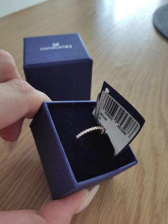 Pierścionek Swarovski kryształy cyrkonie rose Gold różowe złoto