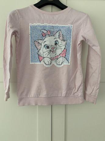 Bluza h&m z kotkiem cekiny