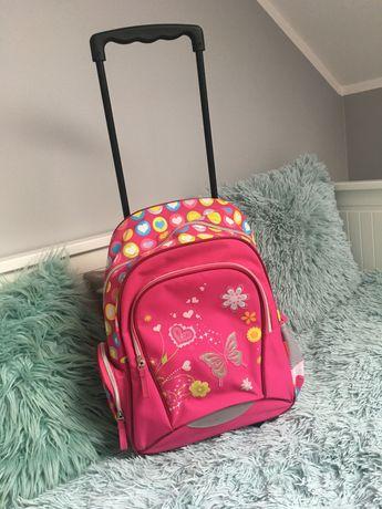 Plecak Szkolny walizka na kółkach różowy