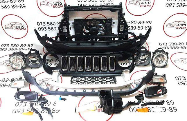 Бампер решетка фары запчасти Jeep Renegade 14-19 Джип Ренегад