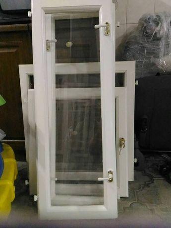 продам окна пластиковые, створки окон со стеклами деревянные,