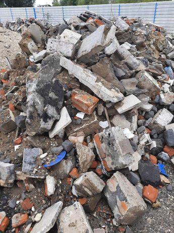Gruz betonowy ceglany  gruz powyburzeniowy kruszywo kamień Wieliczka