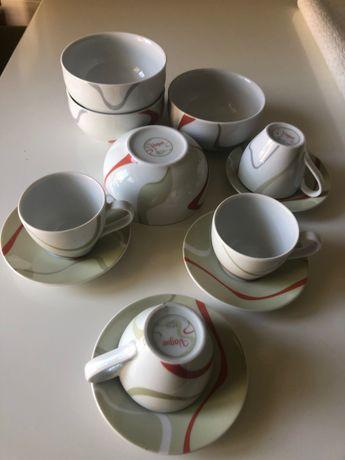 Conjunto 4 chávenas de café e 4 taças VAGUE Spal