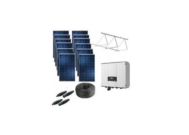 Kit de bombeamento solar direito sem baterias, monofásica ou trifásico