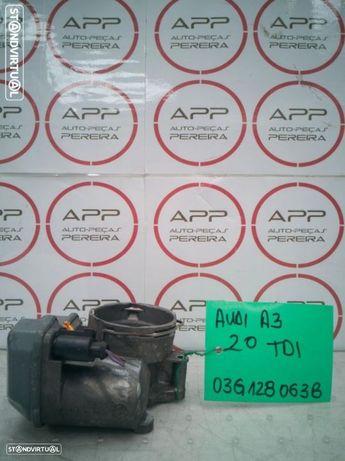 Borboleta de admissão AUDI A3, Golf 5, Seat Leon 2.0 TDI, ref 03G128063B.