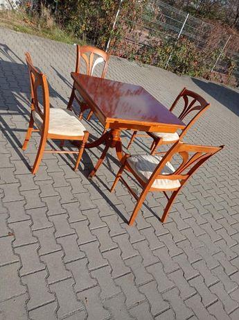 stół rozkładany 90x90 z 4 krzesłami