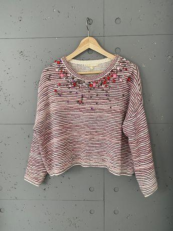MAJE piekny sweter ze zdobieniami 1/S
