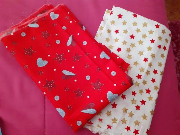 Retalhos de tecidos de Natal