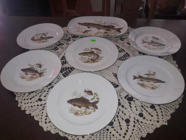 Serwis rybny - porcelana Bavaria na 6 osób (P.229)