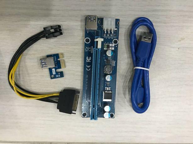 Райзер Riser PCI-E 1х to 6x USB 3.0