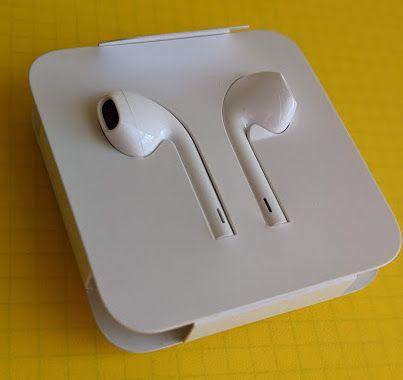 Słuchawki Apple EarPods ze złączem Lightning + Adapter (Oryginalne)