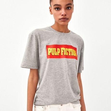 T-shirt cinzenta da Zara Pulp Fiction M