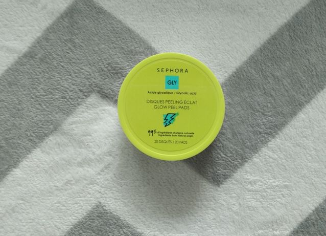 Sephora GLY Glow Peel Pads 17 na 20 płatków kwas glikolowy