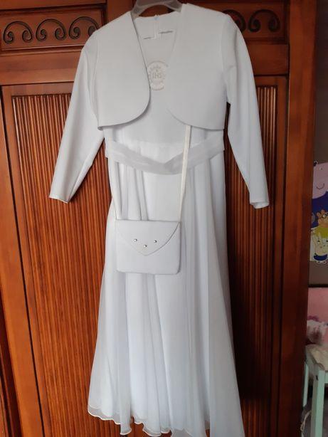 Sukienka komunijna z wianuszkiem