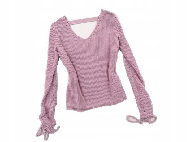 Piękny sweter sweterek wycięte plecy pastelowy 38 M primark