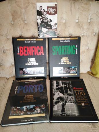 5 Livros sobre Futebol. Benfica, Sporting e Porto