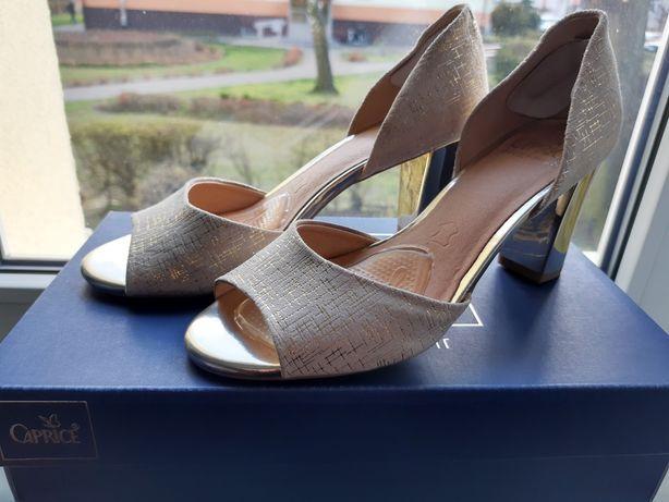 Złote sandałki - CAPRICE