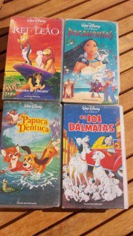 Conjunto de Cassetes de vídeo - Clássicos Disney