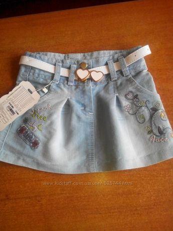 Новая джинсовая юбочка р. 98-116
